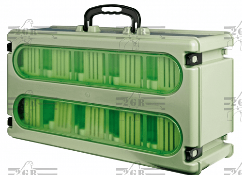 Full Case with 10 Travel Cages and carrying handle on top