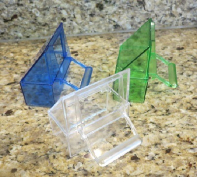 2 piece Canary Seed Dish, Blue green or Clear - Canary Supplies
