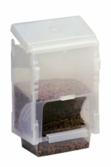 Plastic Seed Hopper - Vacation Feeder - Bird Cage Accessory