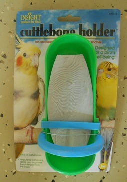 Bird Cuttlebone Holder w/perch Bird Cage Accessoires