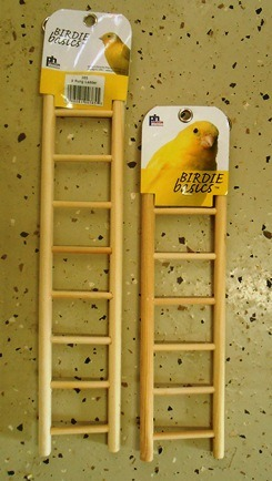 Wooden ladders 12 and 15 inch Bird Cage Accessories