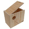 Sisal Fibre Professional Wood Lovebird or Parakeet Nestbox.