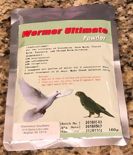 Wormer Ultimate Powder - Avian Wormer - Parasitics for Birds