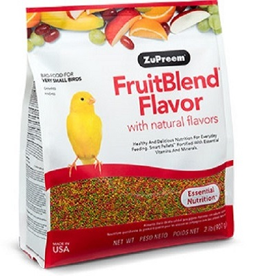 Zupreem XS Fruitblend Flavor Pellets for finches, canaries and other small softbills